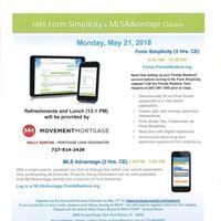 Florida Realtors - Form Simplicty and MLS Advantage Classes
