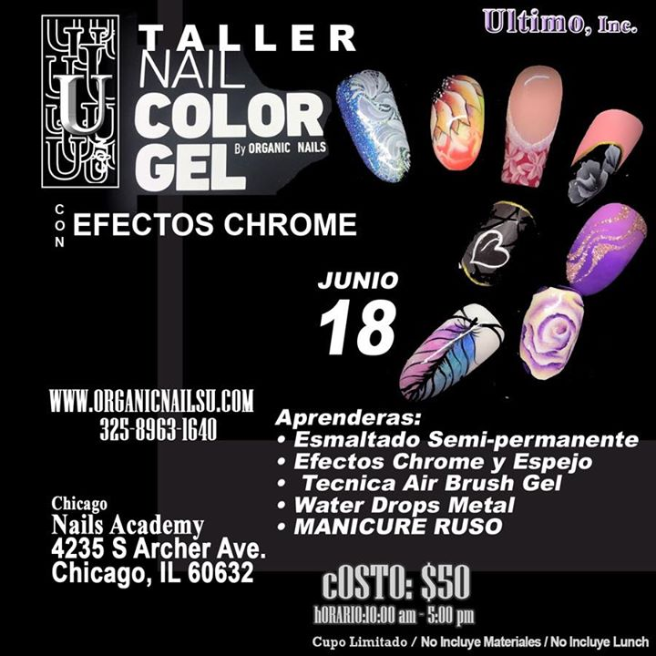 Taller color gel y manicure ruso at Organic Nails USA, Chicago