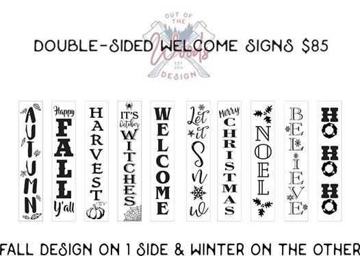 Sign & Sip Double-sided fallwinter signs (public event)