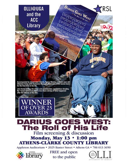 Film Screening and Discussion: Darius Goes West at Athens-Clarke