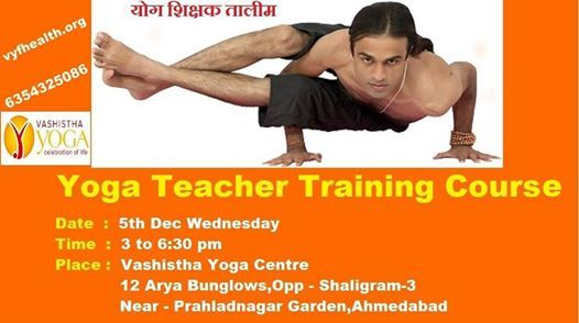 Yoga Teacher Training Ahmedabad Vashistha Yoga Ashram