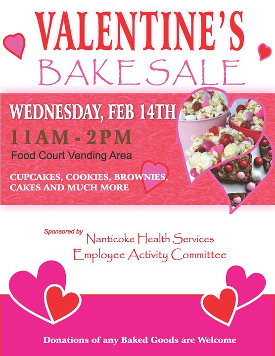 Valentines Day Bake Sale At Nanticoke Memorial Hospital Seaford