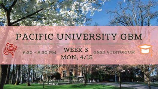 Pacific University GBM