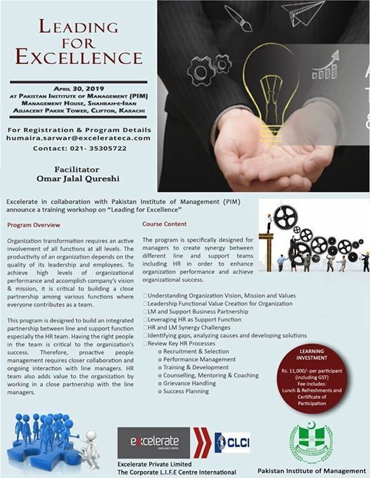 Training Programme Leading for Excellence