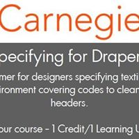 Carnegie CEU - Specifying for Drapery