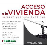 Jornada acadmica Acceso a la vivienda iniciativas legislativas