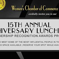 15th Annual Anniversary Luncheon &amp Membership Recognition Awards