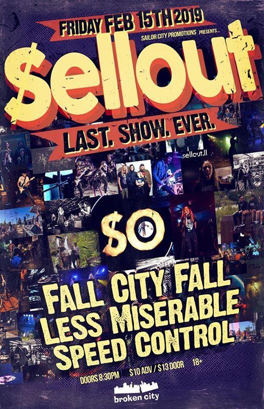Sellouts Last Show Ever - Feb 15th 2019 at Broken City