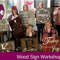 Wood Sign Workshop Party