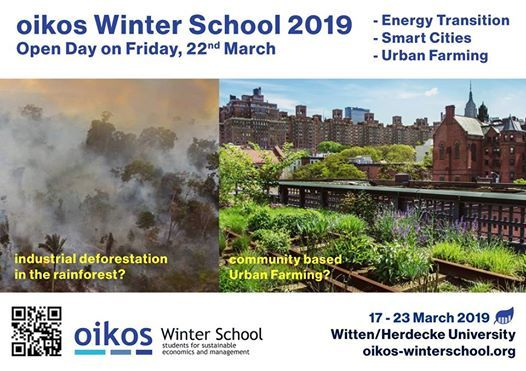 Open Day March 22  oikos Winter School 2019