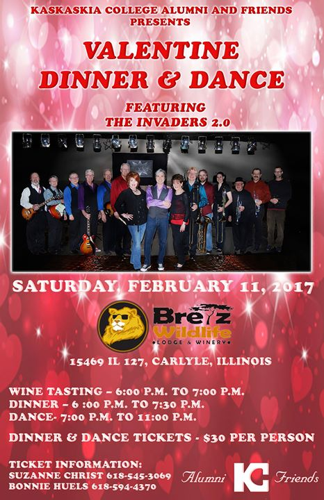 Valentines Day Dinner Dance At Bretz Wildlife Winery Carlyle Carlyle