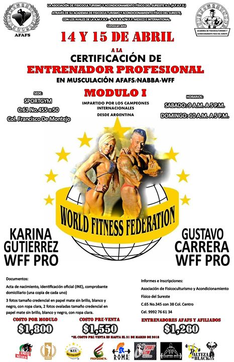 Certificacion De Entrenador Profesional Afafs Nabba Wff At