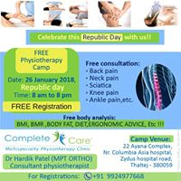 Free Physiotherapy &amp Fitness Check Up Camp