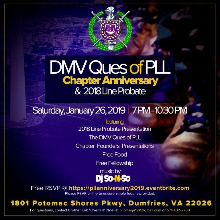 DMV Ques of PLL Chapter Anniversary & 2018 Line Probate