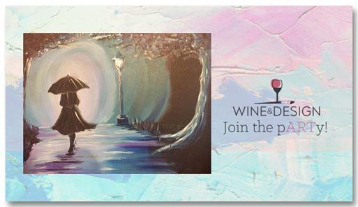 Rainy Stroll Byob Painting Class 25 Tuesday At Wine Design