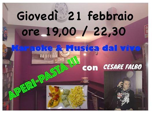 Aperipasta Con Karaoke E Musica Con Cesare Falbo