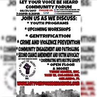 Let Your Voice Be Heard Community Forum (12th Meeting) 083117