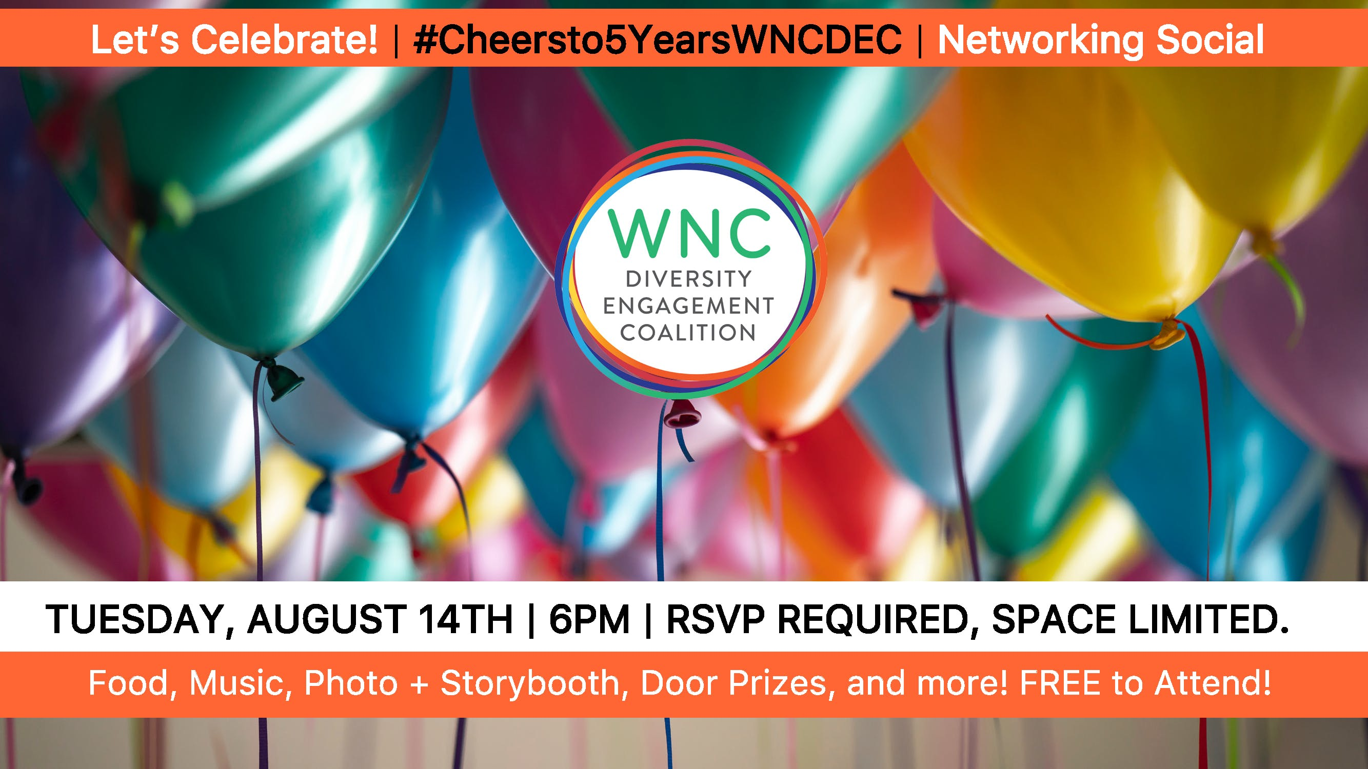 Cheers to 5 Years WNC DEC  Networking Social