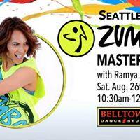 Zumba Master Class wRamya Shinai Sat. Aug. 26th
