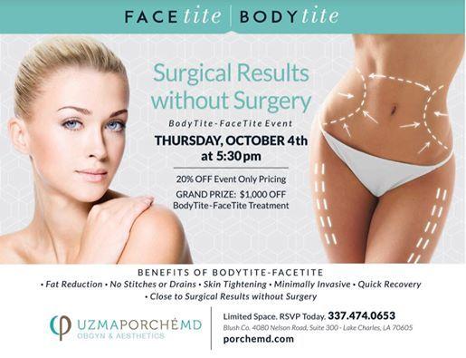 Body Tite//Face Tite Event at Blush Co , Louisiana