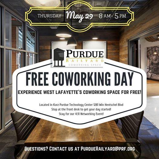 Free Coworking Day at Purdue Railyard