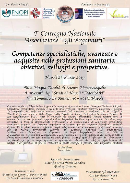 1 Convegno Nazionale - Associazione Gli Argonauti