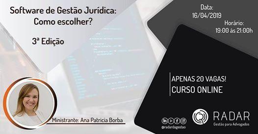 Software de Gesto Jurdica Como escolher  3 Edio