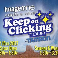 Tamron keep on clicking tour