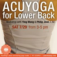 Acuyoga for lower back pain