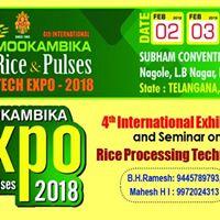 Mookambika Rice &amp Pulses Tech Expo 2018.