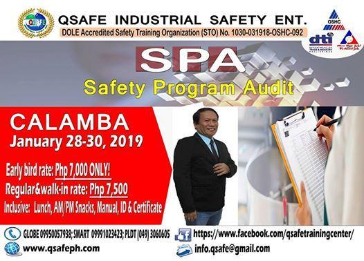 Safety Program Audit - DOLE at QSAFE Industrial Safety Ent Unit #10
