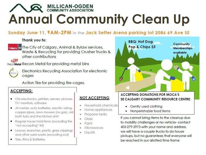 MOCA Community Clean Up at Jack Setters Arena, Calgary