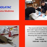 Nolatac Trauma Medicine Course Feb 03 2018 10am - 1PM