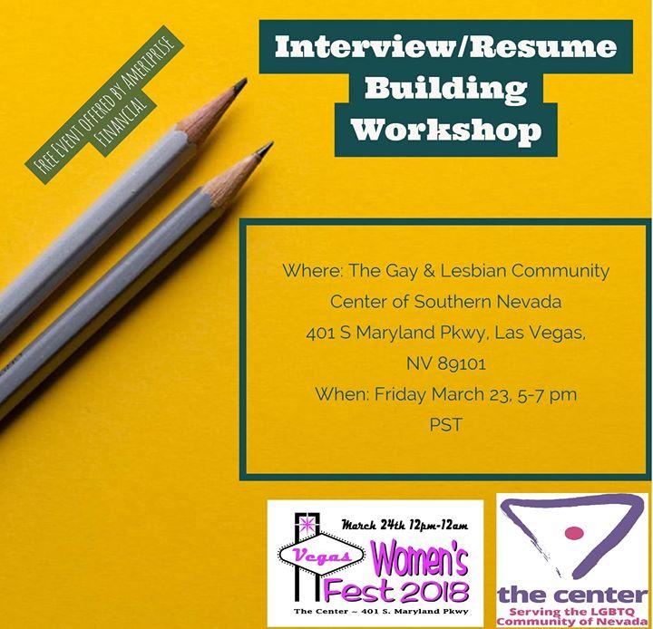 Interviewresume Building Workshop At 401 S Maryland Pkwy Las Vegas