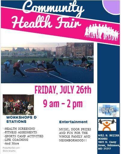 The Baltimore Better Families Community Health Fair