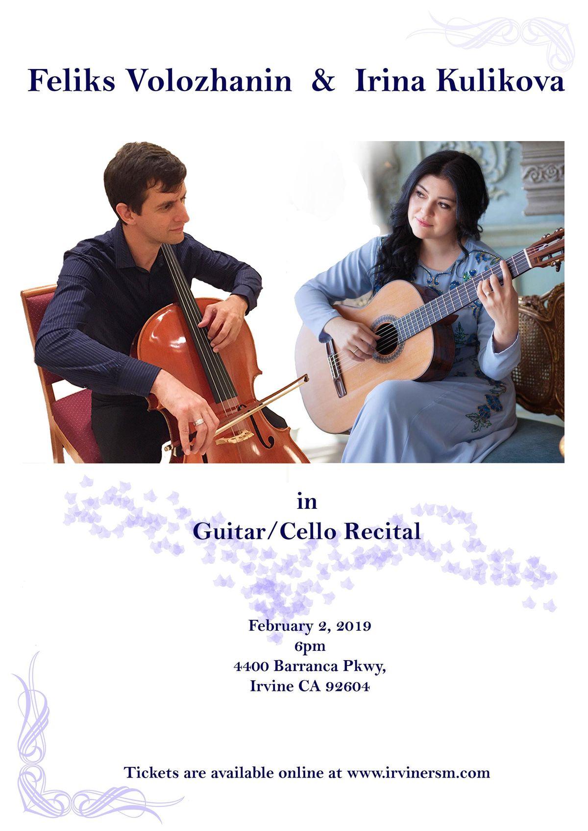 Irina Kulikova and Feliks Volozhanin in a guitarcello duo recital