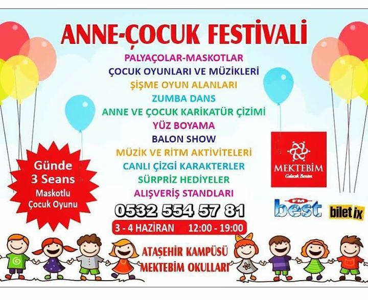 Ataşehir Anne çocuk Festivali At Ataşehir Mektebim Okulları Istanbul