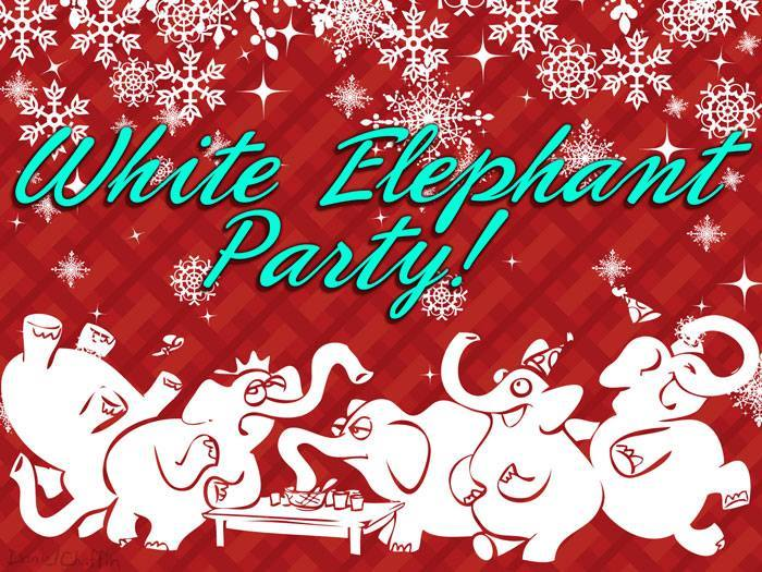 ghbc youth group christmas potluck white elephant exchange 2015 at
