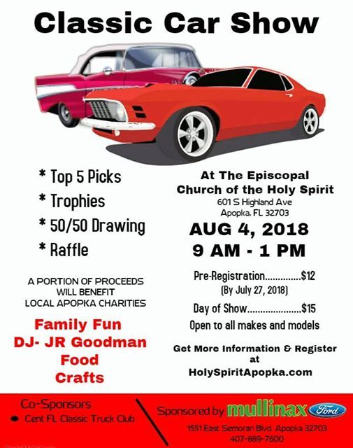 Classic Car Show At Church Of The Holy Spirit S Highland Ave - Florida classic 2018 car show