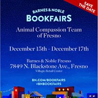 Barnes and Noble Nationwide Book Fair Benefiting Animal Compassion Team