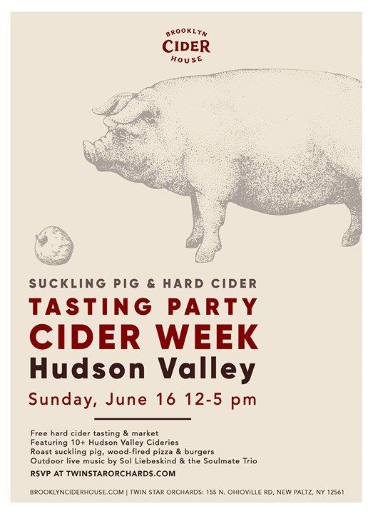 Tasting Party: Hudson Valley Cider Week at Twin Star
