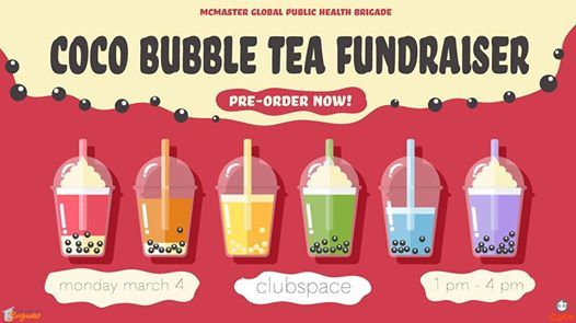 MGPHB Coco Bubble Tea Fundraiser at McMaster ClubSpace, Hamilton