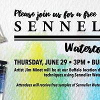 Sennelier Watercolor Demo with Jim Minet