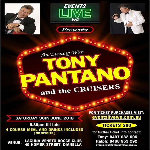 An Evening with Tony Pantano and the Cruisers