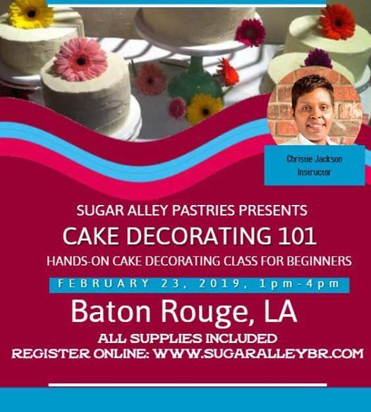Cake Decorating 101 At Baton Rouge Louisiana Baton Rouge