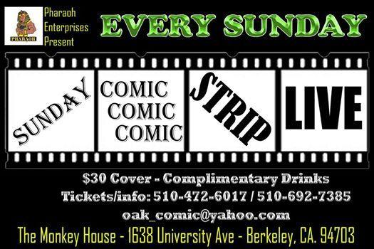 Sunday Comic Strip Live - Comedy & Cocktails