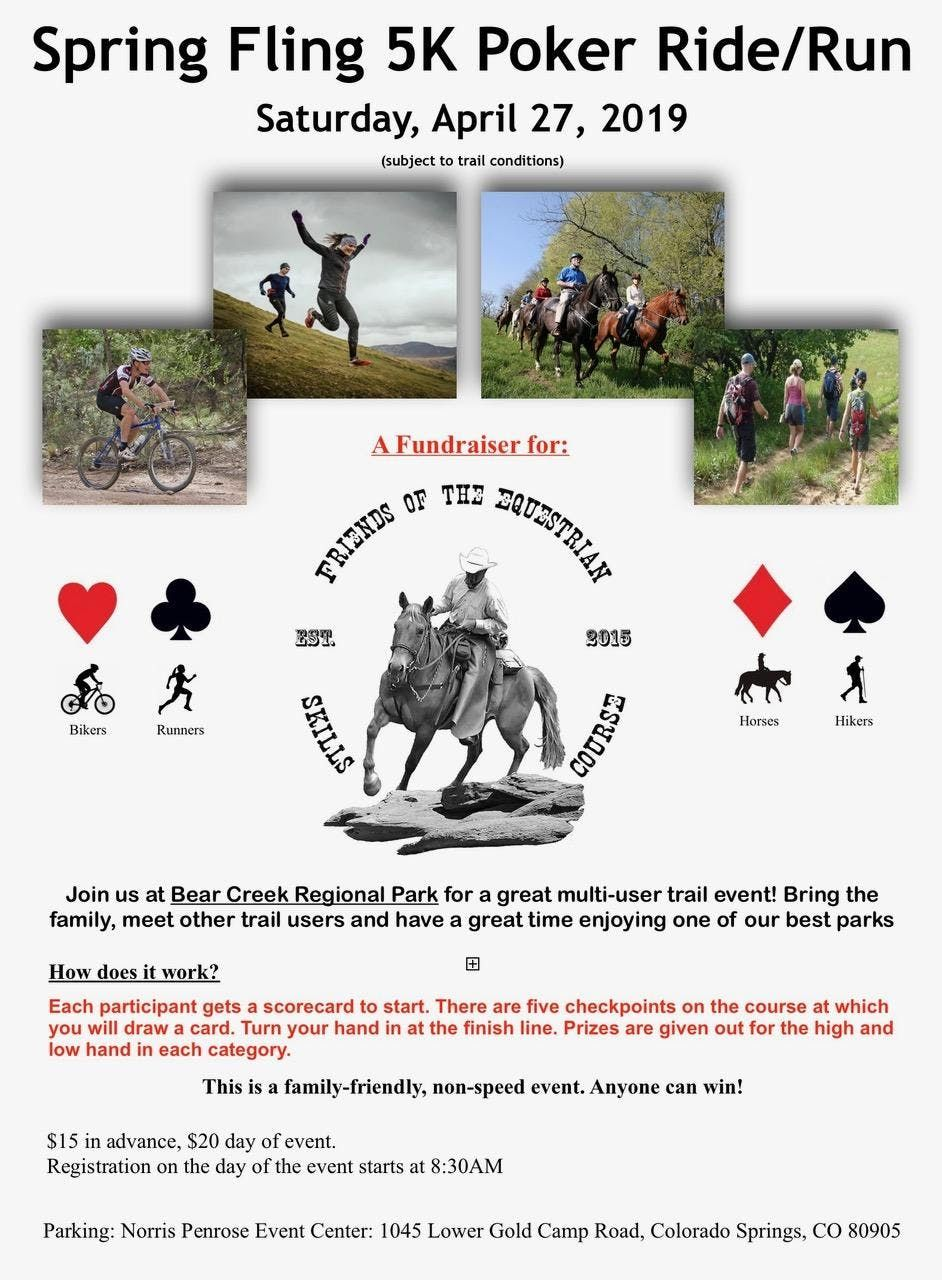 Friends of the Equestrian Skills Course Spring Fling 5K Poker RideRun