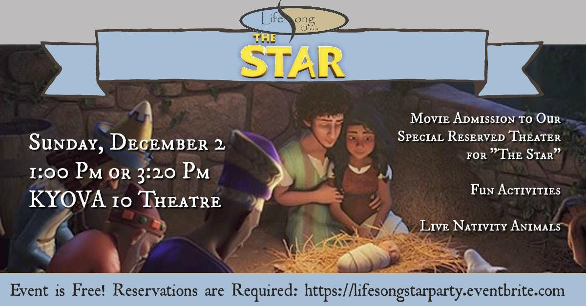 The Star Movie  Activities  Live Nativity Animals
