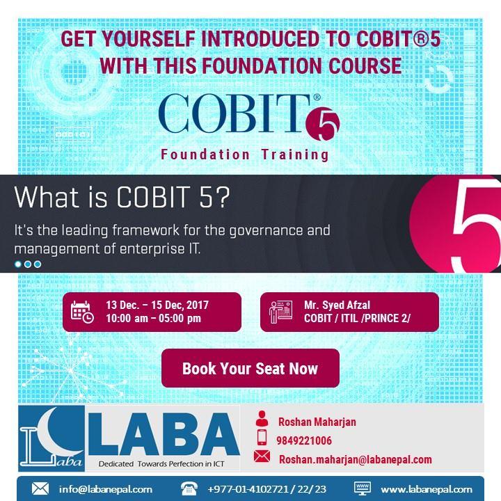 Cobit 5 Training And Certification At Laba Kathmandu
