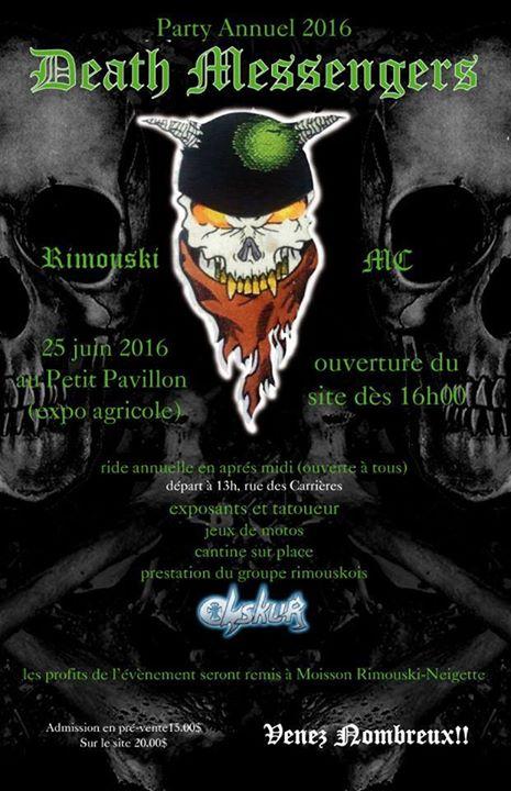 Party Annuel Death Messengers Mc At Pavillon Aricole